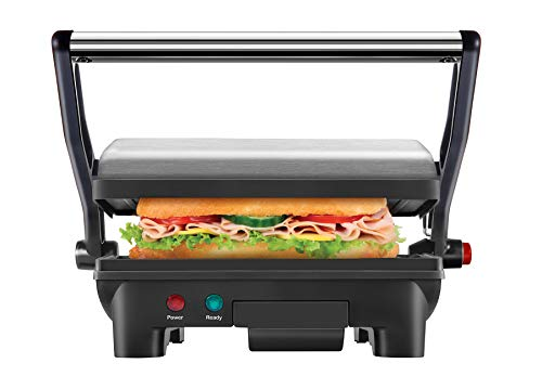 Chefman Electric Panini Press Grill and Gourmet Sandwich Maker w/ Non-Stick Coated Plates, Opens 180 Degrees to Fit Any Type or Size Food, Dishwasher...
