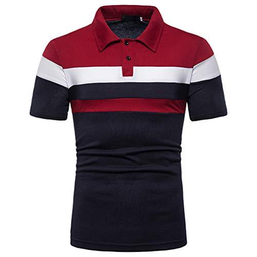 Aoogo Herren Polo Shirt Sommer Mode Polohemd Farbwechsel Revers Rundhals Mode Marken Mit Brusttasche Trend Herrenmode Freizei T Shirt Tops