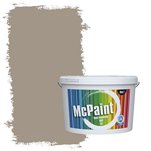 McPaint Bunte Wandfarbe Taupe - 10 Liter - Weitere Braune und Dunkle Farbtöne Erhältlich - Weitere Größen Verfügbar