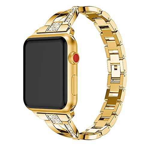 KAEGREEL Compatible con Correa de Reloj de Apple para Mujer, Pulsera de joyería Delgada, Pulsera de Metal, Correa de Repuesto para Apple Watch Se Series 6/5/4/3/2/1,1,42mm/44mm