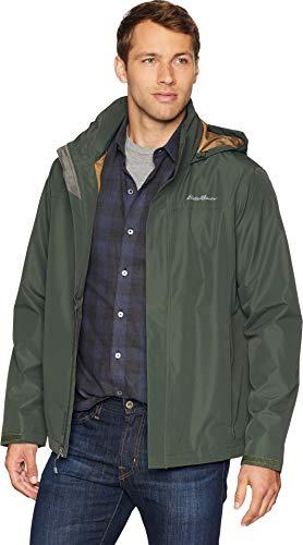 Eddie Bauer Mens Packable Rainfoil Jacket Dark Loden SM