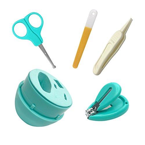 Suntapower Babypflege Set mit Baby Nagelschere, Baby Nagelknipser, Glasnagelfeile und Nasenpinzette – in Sicherheitsbox (Nagelschere) - 2