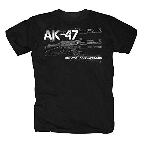 AK47 Pistola Kalashnikov Arma Pumpgun Russia Camicia Maglietta Shirt T-Shirt Polo L