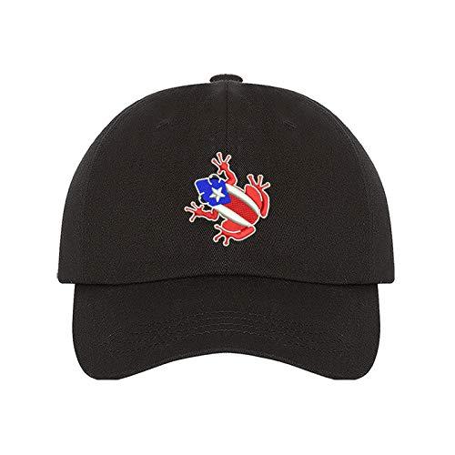 PRFCTO Coqui Puerto Rico Flag Unisex Baseball Hat - Coqui PR Flag Hat, Puerto Rican Hat
