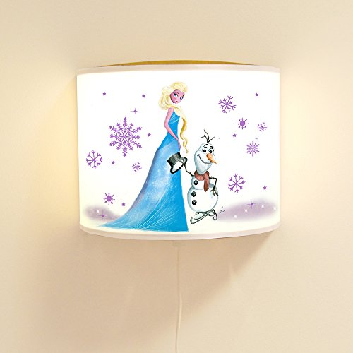 Ls43 Lampe murale avec motif bonhomme de neige et flocons de neige