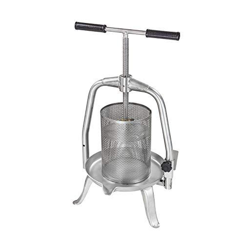 DEMA Edelstahl Spindel Presse V20 Inox 10 Liter