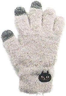 フレンズヒル 手袋 スマホ手袋 ふわもこ アイボリー FREE モコフワネコマン HW-277-525