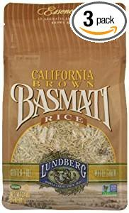 Lundberg California Brown Basmati Rice Gluten Free 32 Oz. Pk Of 3.