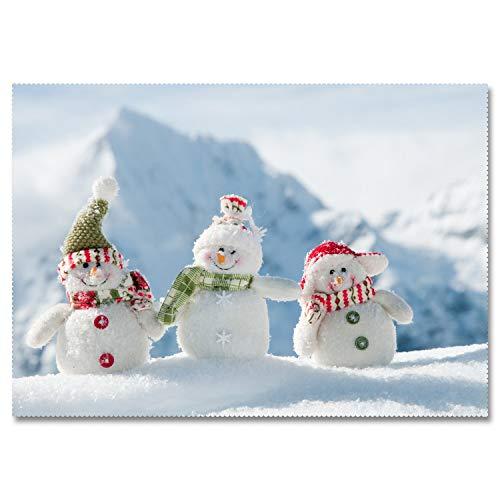 XXDD Mantel Rectangular 3D muñeco de Nieve de Dibujos Animados patrón de año Nuevo Tela Gruesa Lavable Mantel Redondo Mesa de Centro A8 135x200cm