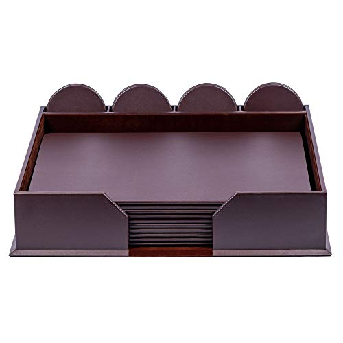Hot Sale Dacasso Chocolate Brown Leather Conference Room Set, 23-Piece