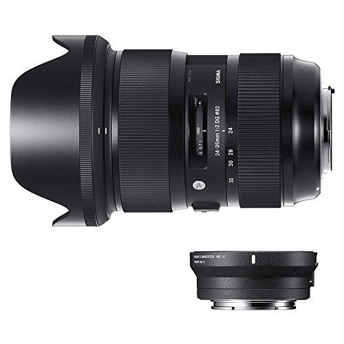 Sigma 588954_89E965 - Kit 24-35 mm F/2 Art EOS + MC-11, Color Negro