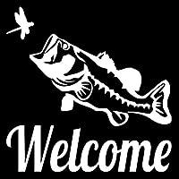 14.3CM * 14.2CMのWELCOME低音の魚おかしいユーモラスなカーステッカービニールステッカーブラック/シルバーC24-0456 (Color Name : Silver)