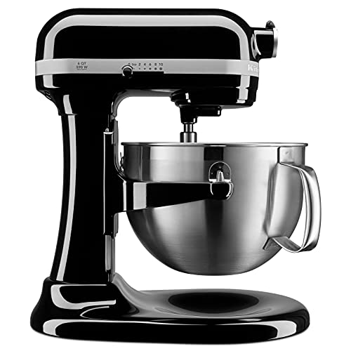 KitchenAid KP26M9XCOB 6-Quart Bowl-Lift Professional Stand Mixer, Onyx Black