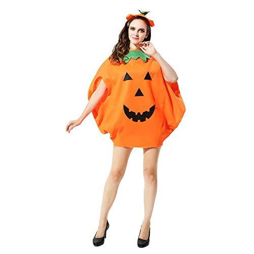 kungfu Mall - Disfraz de Calabaza para Halloween con Sombrero para niños y Adultos, Large