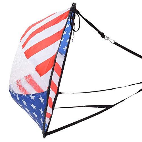 AMONIDA Kajak-Segel, Robustes, langlebiges Windpaddel, Wind-Segel, mit transparentem Fenster Kajak-Boot-Wind-Segel, für Kanu-Kajak