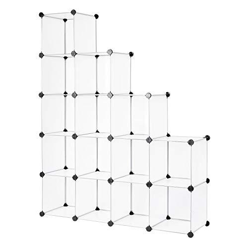 Dibea Modular, Armario, Sistema de estantería, Zapatero, 16 Compartimentos, Fächer, 30 x 30 cm