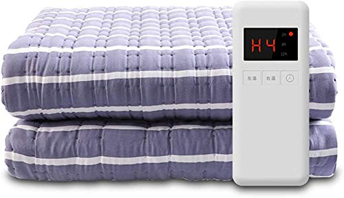 XHLLX Double Bed Electric Blanket - Premium Fully Fitted Heated Mattress Cover with Auto Safety Shut Off - with 4 Heat Settings Machine Washable,180×150 Cm