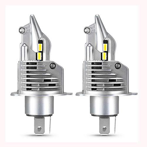 JALAL 2PC H4 Bombilla LED Faros Delanteros de Coche para Motocicleta Kit LED Lámpara automática 16000LM 6500K 100W 12V 24V Luz de Cruce de Haz Alto