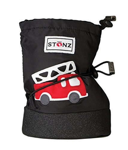 Stonz Baby Booties - Firetruck Black, 23- M