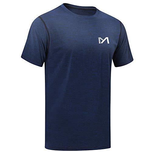 MEETYOO T-Shirt Uomo, Magliette Manica Corta Sportive Maglia per Running Corsa Fitness