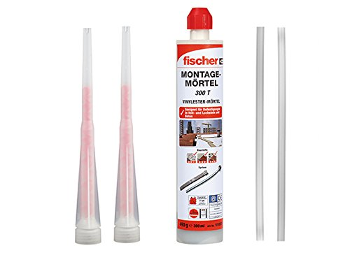 Fischer Montagemörtel 300 T, 1 Kartusche 490 g, 2x FIS Statikmischer, 2x Mischer Verlängerung