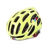 KQYAN Casque de vélo Cyclism Casque de vélo monopièce Casque VTT Casque d'équitation d'équitation équipement léger Respirant (Couleur: Bleu, Taille: 57-61cm) (Color : Yellow, Size : 5761cm)