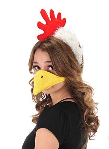 Chicken Headband and Beak Mask Costume Accessory Kit for Adult and...