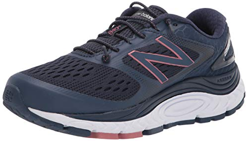 New Balance Women's 840 V4 Running Shoe, Natural Indigo/White/Off Road, 7.5 Wide
