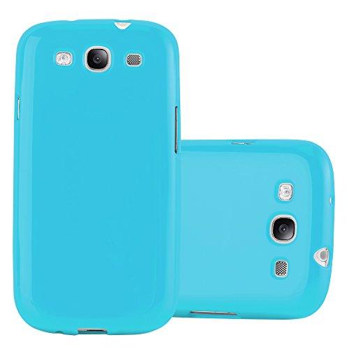 Cadorabo Funda para Samsung Galaxy S3 / S3 Neo en Jelly Azul Claro - Cubierta Proteccíon de Silicona TPU Delgada e Flexible con Antichoque - Gel Case Cover Carcasa Ligera