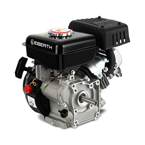 EBERTH 3 CV 2,2 kW moteur à essence (16,00mm Ø arbre avec filetage extérieur, 1 cylindre, 87 cc de capacité cubique, 4 temps, refroidi à l'air, noir)