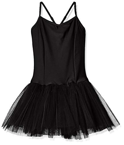 Capezio Girls' Little Tutu Leotard, Black, Intermediate