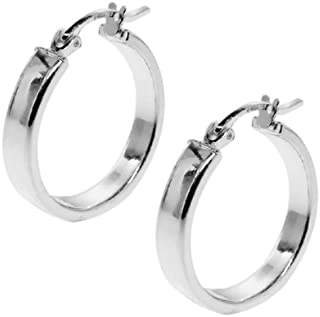 1.00 Inch 925 Sterling Silver Tarnish-Free Hoop Earrings Thickness is 3.00mm
