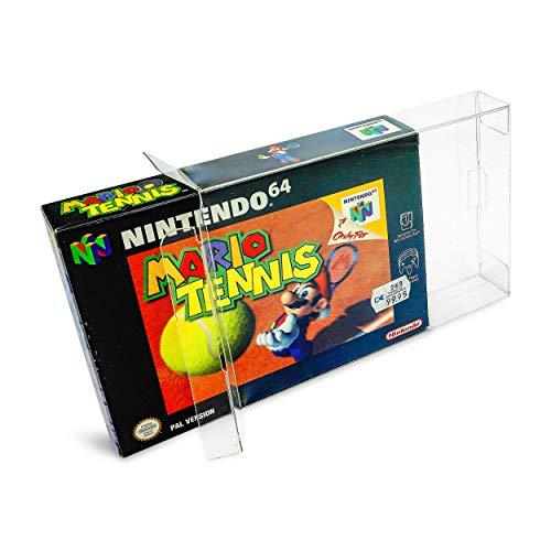 20 x Klarsicht Schutzhüllen für Nintendo 64 OVP 0,3mm N64 Passgenau und Glasklar-PET-Reset Retro Game Protectors-cases-box-Staubdicht-UV-Schutz