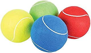 Rhode Island Novelty 8 Inch Jumbo Tennis Balls,  Set of 4,  Colors May Vary