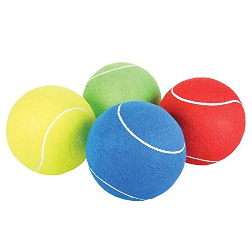 Rhode Island Novelty 8 Inch Jumbo Tennis Balls, Set of 4, Colors May Vary thumbnail image