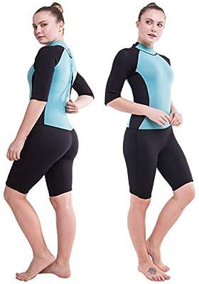 DEHAI Men Women's Full Wetsuits Thermal Suit Sleeves 3mm Neoprene Youth Adult's Diving Swimming Snorkeling Surfing Scuba Jumpsuit Warm Swimwear (Women Shorty S)