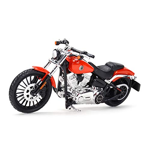 Boutique para Maisto 1:18 2016 Breakout Limited Edition Die-Casting Motorcycle Model Model Gift Memorial Toy Car (Color : Rojo)