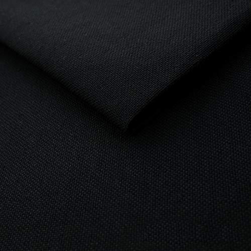 HEKO PANELS Telas por Metro Tela para Tapizar - 100% Poliéster Fácil de Limpiar - Tela por Metros para Tapizar Sillas Sofas y Cojines - Negro