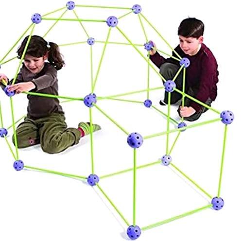 FBYED Den Baukasten, Kinder Leuchtend Konstruktion Fort Building Kit mit Zelt, DIY Fortress Baukasten, Indoor Tunnel Spielzeug für Jungen und Mädchen