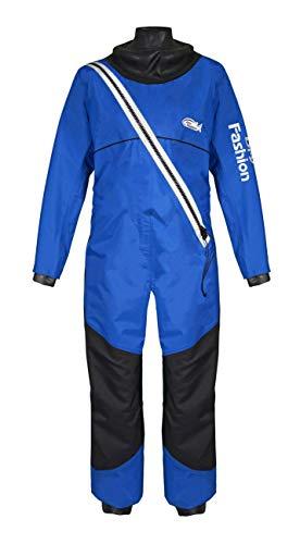 Dry Fashion Damen Herren Trockenanzug Regatta Segelanzug Dry Suit, Farbe:blau/schwarz, Größe:XXL