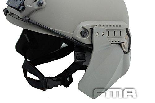Worldshopping4U Equipo de protección para colocar en el casco de airsoft táctico, con protectores para los oídos para raíles rápidos de casco FG (casco no incluido)