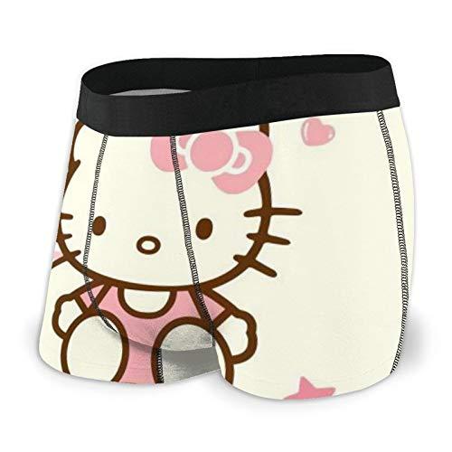 Hello Kitty Herren Boxershorts S-XXL Print Unterhose Design Super Weich Bequem Und Atmungsaktiv Und Elastisch Schwarz Gr. XXL, Schwarz