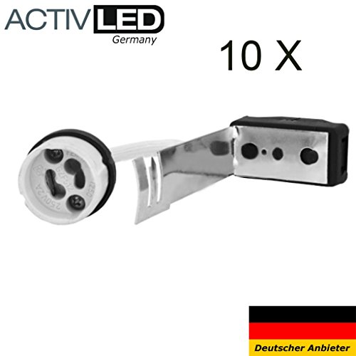 10x GU10 Keramik Fassung 230V für LED und Halogen sowie GZ10 von Activled