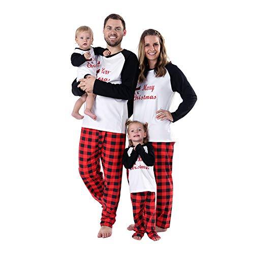 BOBORA Pijamas Familiares de Navidad, Conjunto de Ropa de