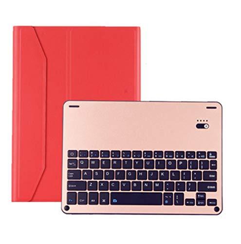 Wireless Bluetooth 3.0 Mini Fashion Keyboard Aluminum Alloy KeypadPU Leather Stand Case for iPad Pro Rechargeable