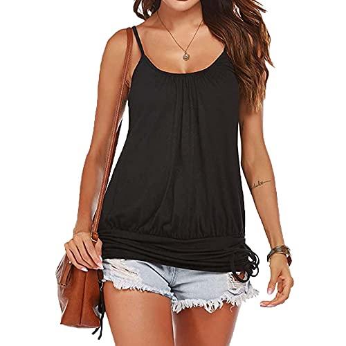 Camisa De Mujer Chaleco De Tirantes Finos para Mujer Verano Sin Mangas Splid Casual Suelta Camiseta Femenina Tops
