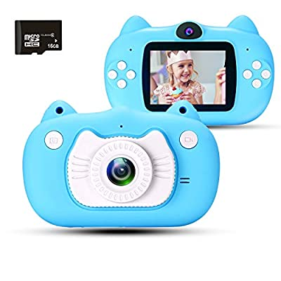 "Kids Video Camera for Girls Gift,hyleton 1080P FHD Digital Kids Camera Camcorder Video Recorder DV with 2.4"" Screen for Age 3-10 by hyleton"