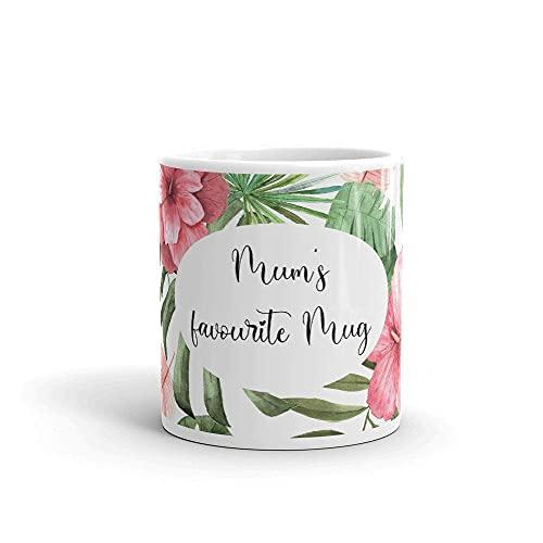 Taza de café de regalo para mamá, taza favorita de mamá, taza de café ideal para hombres y mujeres, taza de té de cerámica, taza de leche de 325 ml, taza de bebida