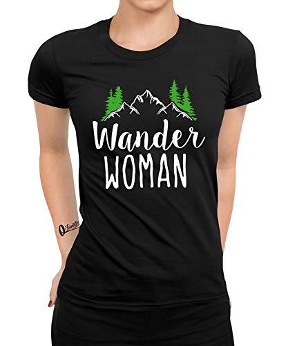 Wandern Bergsteigen Berge Bergwandern Climbing Zelten Camping Alpen Trekking Klettern Fraue Damen T-Shirt