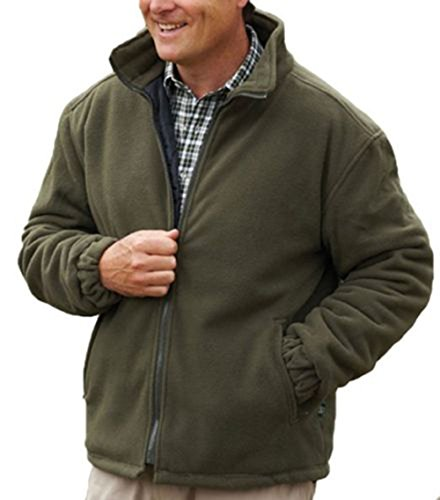 New Mens Thick Warm Padded Anti Pill Fleece Jacket Quilted Coat Zipped...